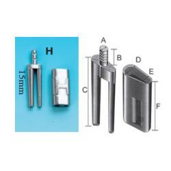 Би-пины со втулкой Bi-V-Pin H никелированные, 100 шт.